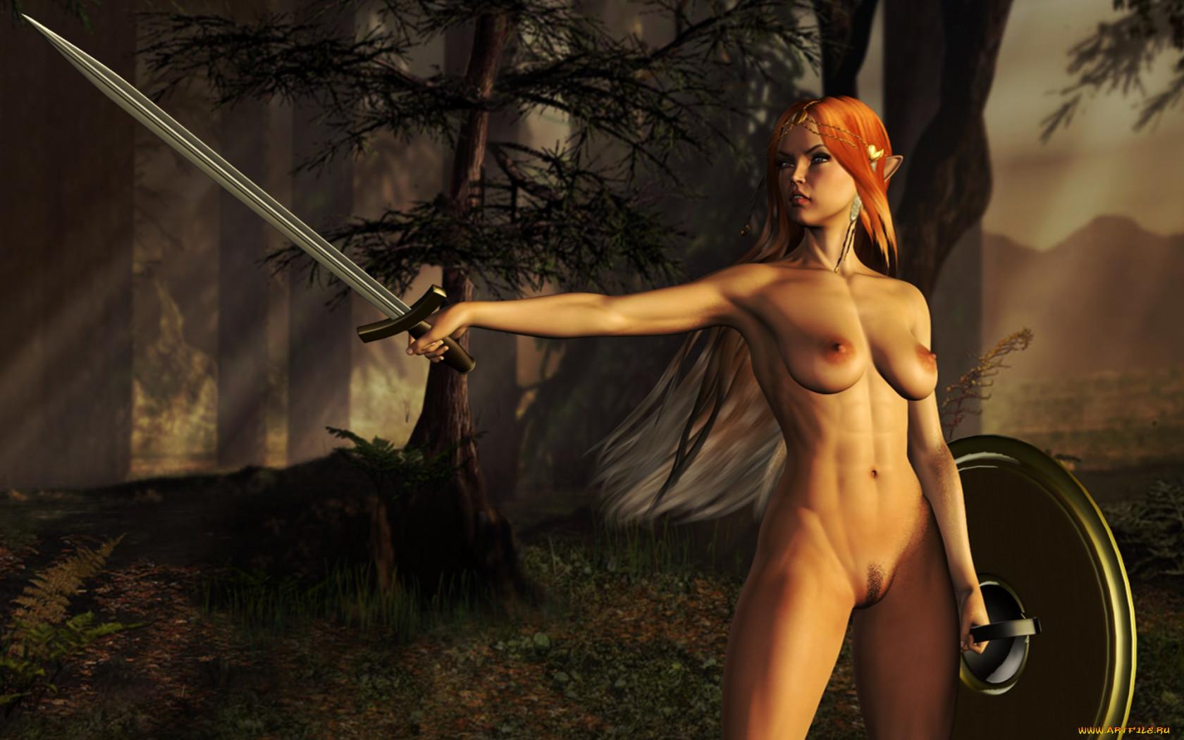 Эльфийка голая